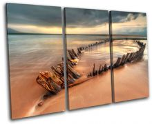 Beach Boatwreck Sunset Seascape - 13-0354(00B)-TR32-LO